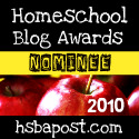 Parent at the Helm Nominated for Best NEW Homeschooling Blog 2010