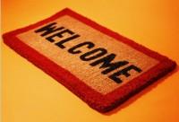 homeschooling welcome mat